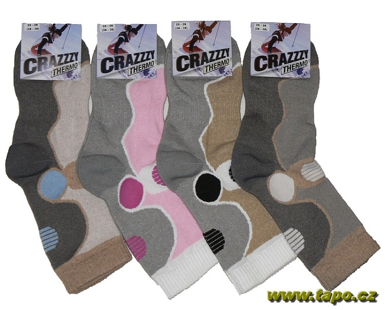 1072c42e7a6 Ponožky CRAZZZY THERMO trek plyš dámské - Tapo.cz